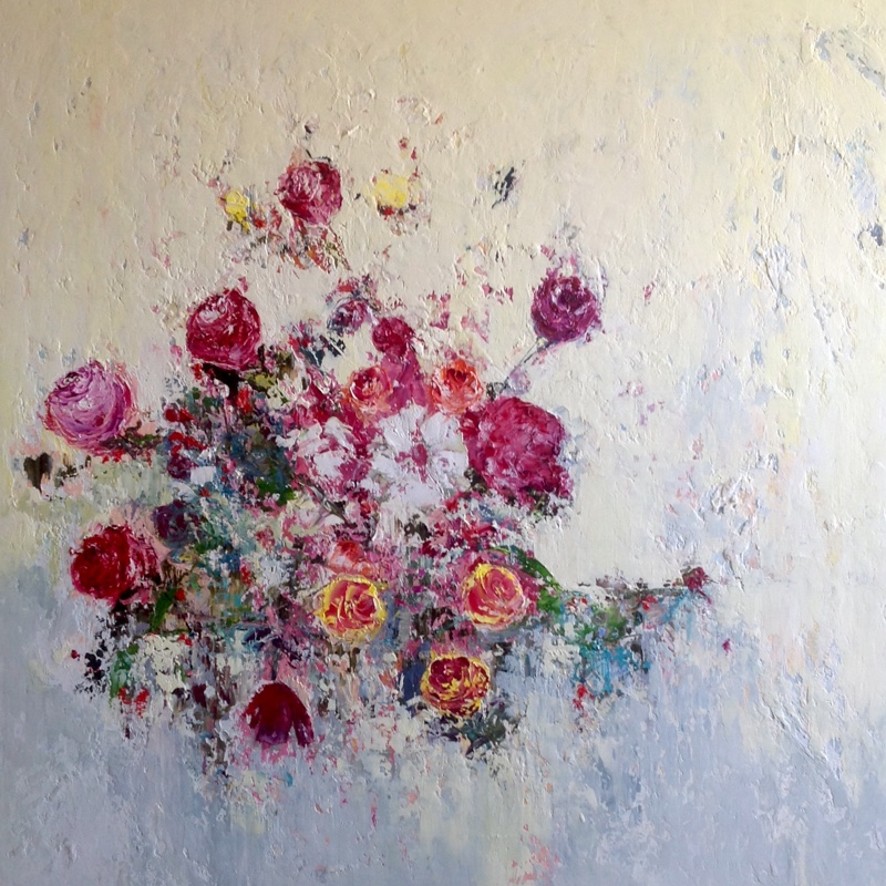 Summer Roses / 80 x 80cm / Oil on Canvas