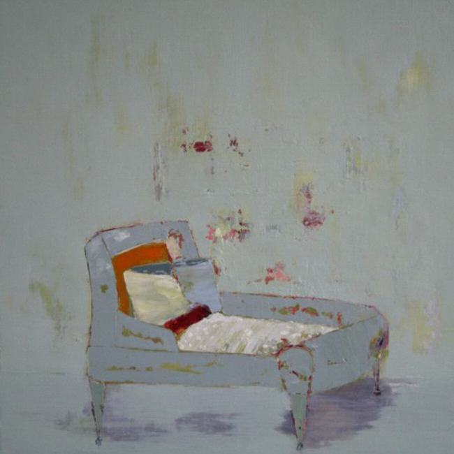 Day Bed / 60 x 60cm / Oil on Canvas