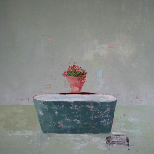 Tin Bath / 100 x 100cm / Oil on Canvas