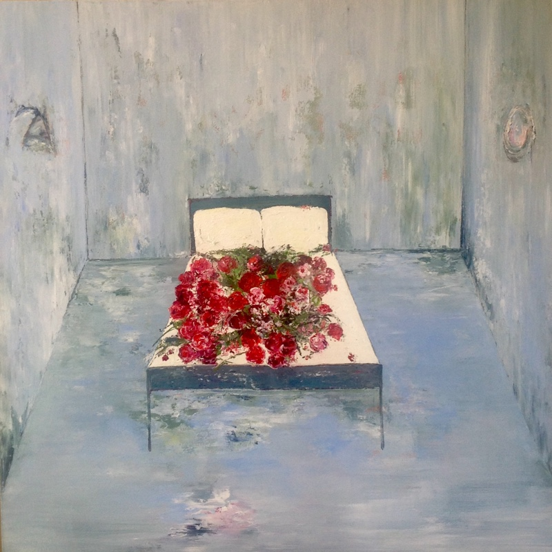 Special Bed of Roses / 100 x 100cm / Oil on Canvas